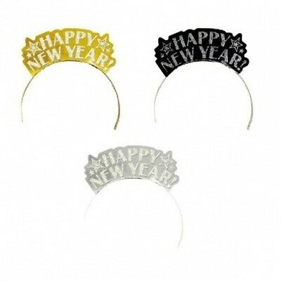 12 Gold Silver Black Foil Glitter Paper Tiaras Party Supplies New Years Eve