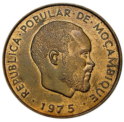 Mozambique 10 Centimos 1975 Unc = 1-Year Type =