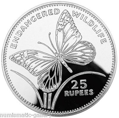 SEYCHELLES 25 RUPEES 1994 Silver PF BUTTERFLY