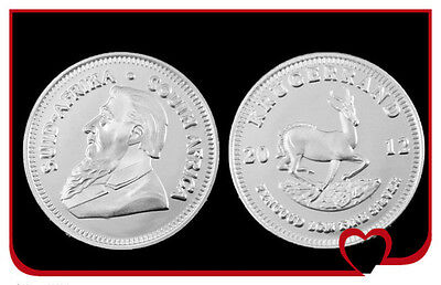 Krügerrand 2012 Coin from pure 999 Silver Silver South - Africa South Africa New