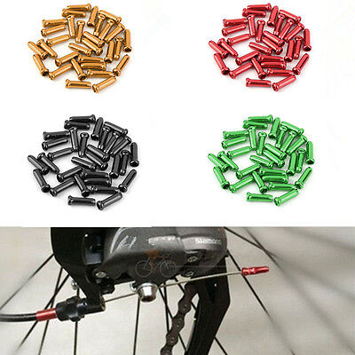 Aluminum 50x Bicycle Brake Shifter Derailleur Inner Wire Cable End Cap Crimps
