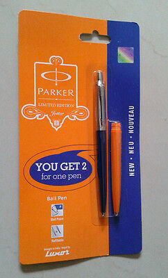 Parker Jotter Ball Pen CT  * Limited Special Edition : Blue Body + Orange Barrel