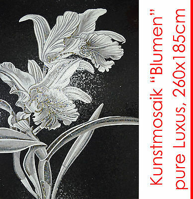 "IT'S NICE ! MOSAIC IMAGE ""FLOWERS"" 260x185 cm 4.8m² 51.000 STONES MASTERPIECE"