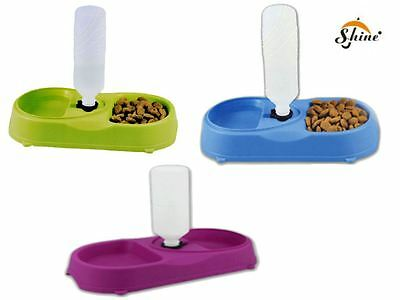 Duo Automatic Pet feeder Food Bowl for Cat,Dog Water Refill System Mixed Colour