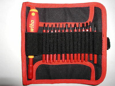 Wiha SlimLine Insulated Screwdriver Set with Pouch 28390