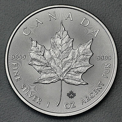 1 Once 999 Argent Canada Maple Leaf 2016 5 Cad Royal Canadien Mint
