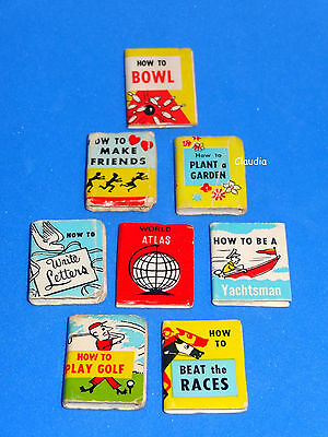 Vintage Barbie How To Book - Library of 8 !!! Very Good to Excellent VHTF