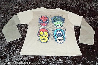 Marvel Avengers Faces Infant/Toddler T-Shirt (AVAILABLE SIZES: 12m-5T) NEW!
