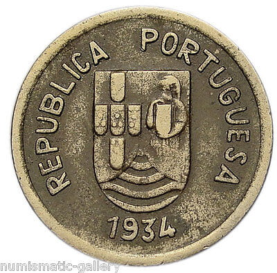 PORTUGUESE INDIA 4 TANGAS 1934 VF Scarce