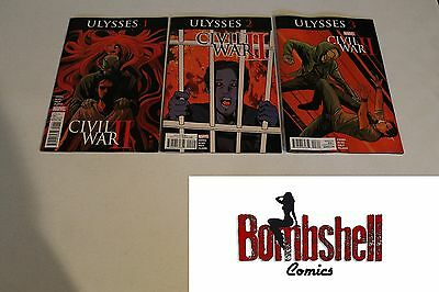 Civil War II Ulysses 1-3 Complete Comic Lot Run Set Marvel Comics 1st Print