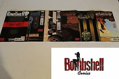 Punisher 1 2 3 4 5 6 Complete Comic Lot Run Set Marvel Comics 1st Print