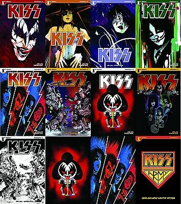 Kiss #1 13 Variant Comic Book Cover Set Dynamite 2016 Paul Stanley Gene Simmons