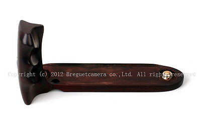 Hand-Made Hard Redwood Grip for Voigtlander Bessa II color Heliar apo lanthar