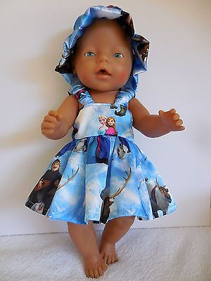"Baby Born 17""  Dolls Clothes Blue  Frozen  Summer Outfit"