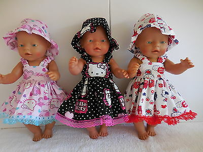 "Baby Born 17""  Dolls Clothes Hello Kitty Summer Outfit"