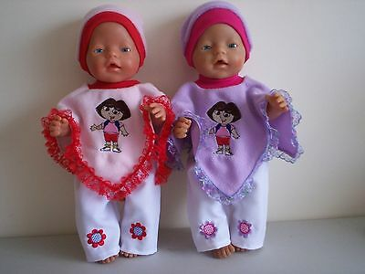 Baby Born Dolls Clothes Dora Poncho Outfit