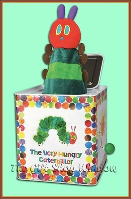 The Very Hungry Caterpillar Musical Soft Plush Jack In The / A Box Bnib Superb