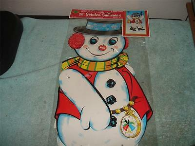 Vintage 1975 Beistle Snowman Jointed Cardbaord Cut-Out