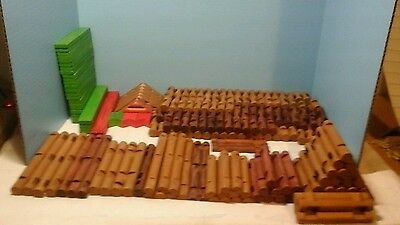Lot Of 264 Lincoln Logs Some Old Style Some New Style