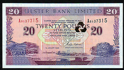 Delicious 1996  £20 Ulster Bank   Mint