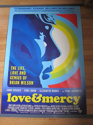LOVE AND MERCY Original 27x40 Movie poster Life Love and Genius of Brian Wilson