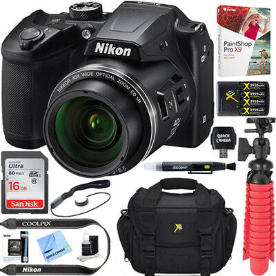 Nikon COOLPIX B500 16MP 40x Zoom Wi-Fi Digital Camera (Black) 64GB 12 Pcs Bundle