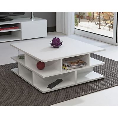 MAD Table basse multicases blanc - AUCUNE - Table basse multicases pour NEUF