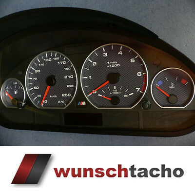 speedometer speedometer dial for BMW E46 Alp-Carbon 270 Kmh Petrol