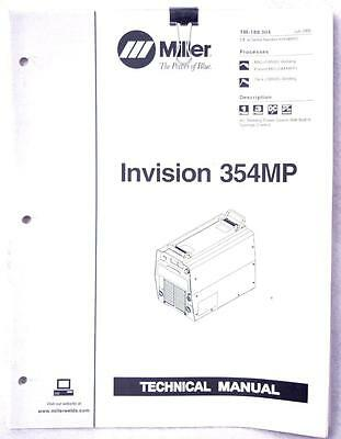 Miller Invision 354MP Owners Manual TM-188 304 Welding FREE SHIPPING