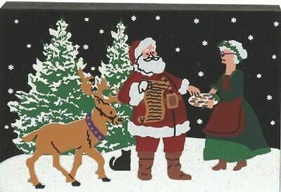 Cat's Meow Village Christmas North Pole Santa and Mrs Claus #2975 NEW Ship DISC