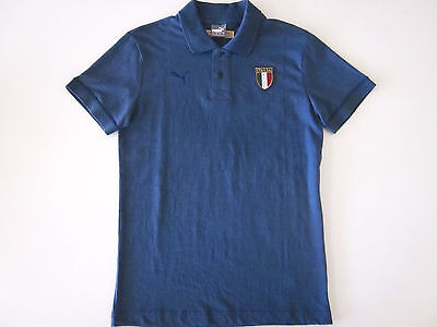 Figc Italia Italy Azzurri Polo Blue/denim Mens S M & L New By Puma Rrp $80