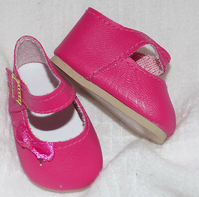 Medium Pink Color Mary Jane Shoes Fit American Girl Wellie Wishers Dolls