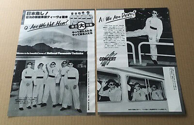 1979 Devo 2pg 3 photo in JAPAN mag spread / press clipping cutting d07m