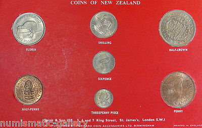 New Zealand 1963 Mint Set In Red Cardboard Holder