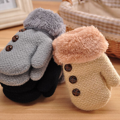 Newborn Infants Baby Boy Girl Knitted Winter Warm Cotton Cashmere Mittens Gloves
