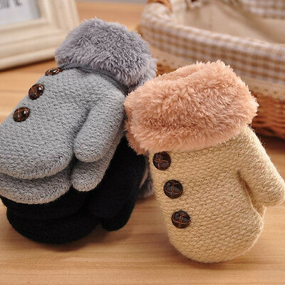 Newborn Baby Boy Girl Fashion Knitted Winter Warm Cotton Cashmere Gloves Mittens