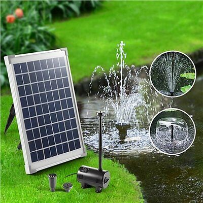 NEW 800 L/h 10W Solar Power Outdoor Garden Fountain Pond Submersible Water Pump