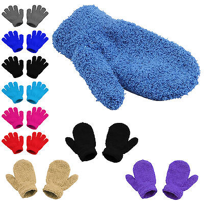 Magic Gloves Girls Childrens Boys Kids Stretchy Pick Colour Knitted Winter Warm
