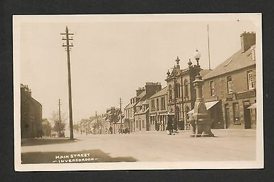 Invergordon - Main Street - real photographic postcard