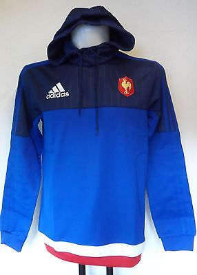 France Rugby Hooded Sweat By Adidas Adults Size Xl Brand New With Tags