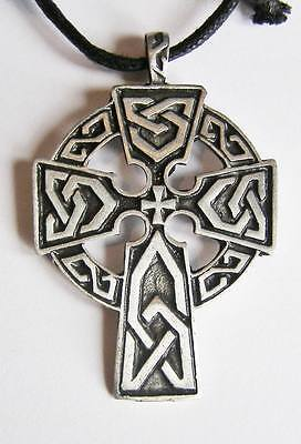 Pewter Celtic Grave Cross Pendant NEW Necklace Pagan Celt Wicca New Age