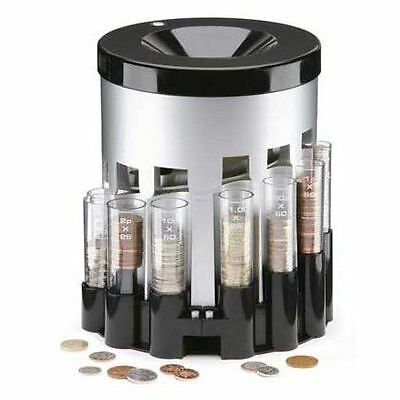 Electronic Coin Sorter Automatic Money Bank Savings Change Jar Office Kids Room