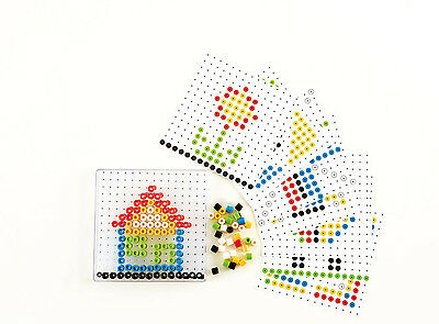 E6310 HAPE Bead Do Picture Creation Colorful Beads [Home Education] Children 4Y+