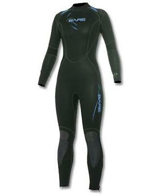 New 5Mm Bare Womens Sport Full Scuba Diving Wetsuit Size 14+ Plus Blue Black