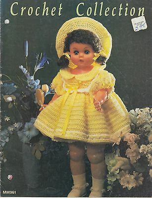 Crochet Collection doll clothes pattern book copyright 1983