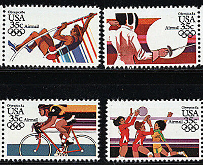 US Scott #C109-112 LA Summer  Olympics  SET of 4 MNH ***FREE SHIP***