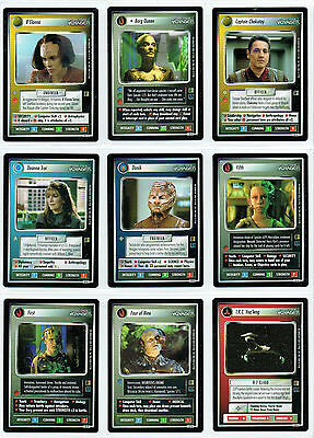 Star Trek Ccg The Borg Complete Set Of 20 Rare Plus Cards