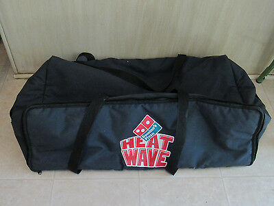 DOMINO'S Pizza HEAT WAVE Navy Blue Thermal Insulated DELIVERY Carry Bag HUGE!!!