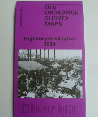 Old Ordnance Survey Detailed Maps Highbury & Islington London 1894 Godfrey Edit