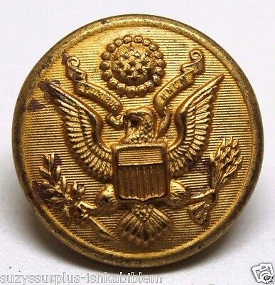 WWII US Army Great Seal Eagle Overcoat Brass Button 28mm 1 1/8 each B4135